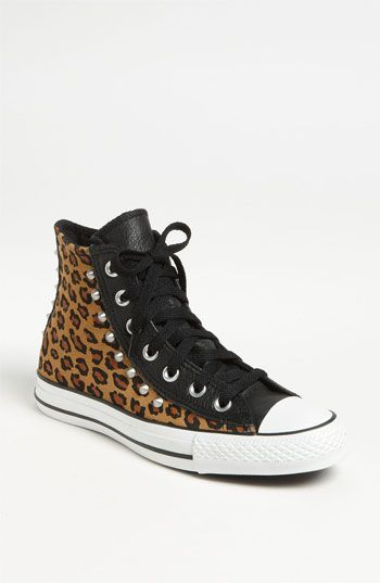 Converse Chuck Taylor® All Star® Leopard Stud High Top Sneaker | Nordstrom $100