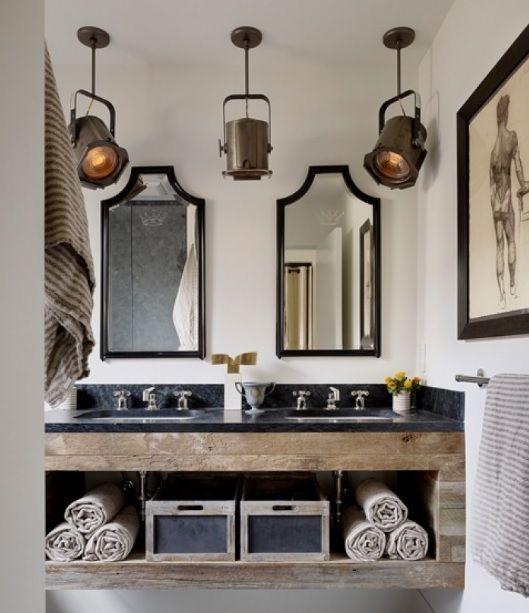 Bathroom Vanity Light Fixture Ideas: Best 25+ Rustic Bathroom Lighting Ideas On Pinterest