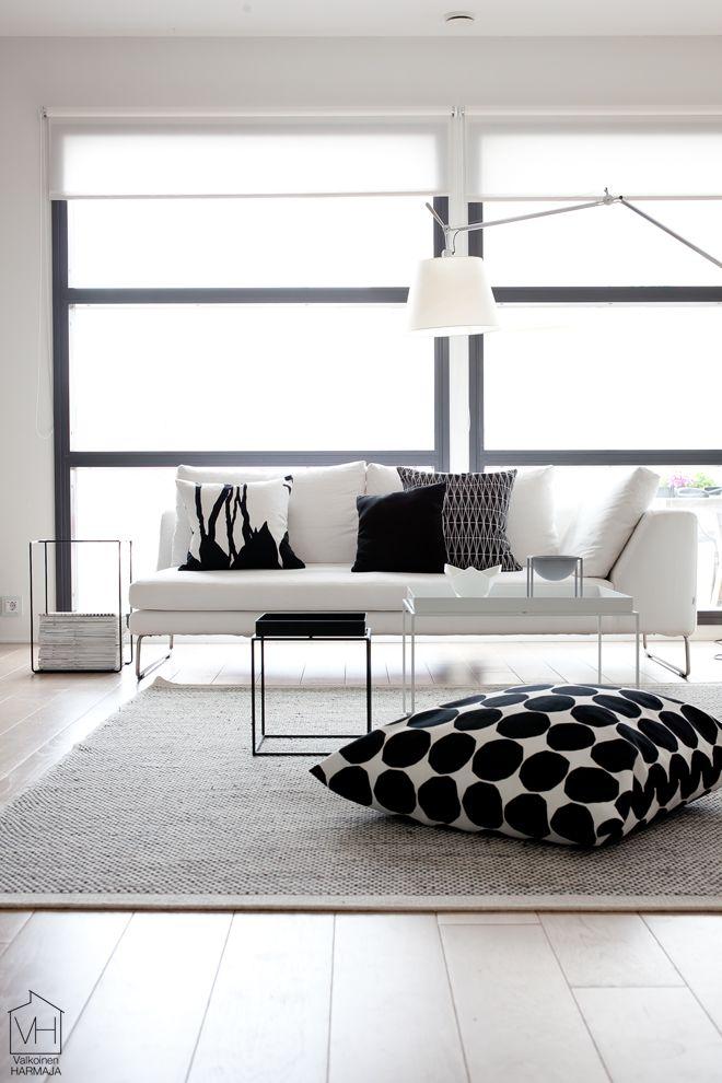 Yksi huone, kolme tyyliä - Valkoinen Harmaja | Divaaniblogit