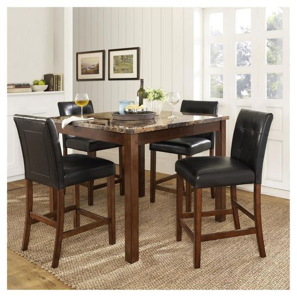 Threshold 3 Piece Expandable Dining Set Dining Room Sets Kitchen Dining Furniture Dining