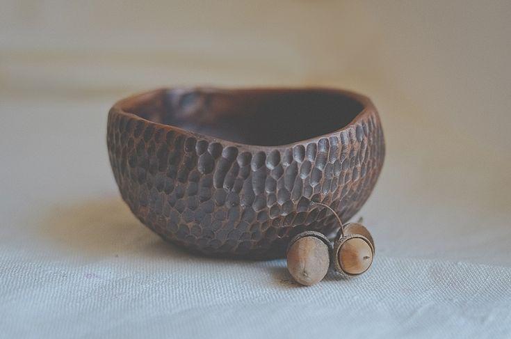 Milk fired red earthenware clay bowl https://www.facebook.com/anna.novitskaya.3