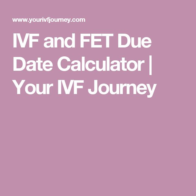 Ivf dating pregnancy
