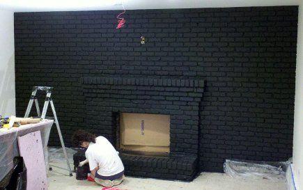 black brick fireplace ideas | ... black. It hardly looks like the same space — why I always swear by