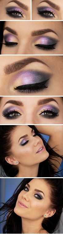 purple & gold eye, precioso!!! #maquillaje #makeup #ojos