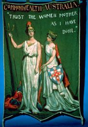The Women's Suffragette Banner: Trust the Women... Dora Meeson