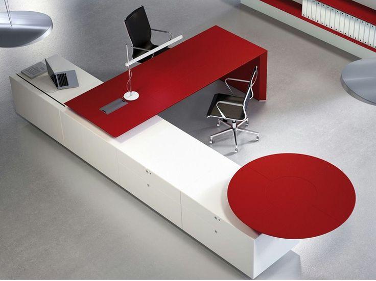 Escritorio de oficina ejecutivo rectangular MULTIPLICEO | Escritorio de oficina - FANTONI