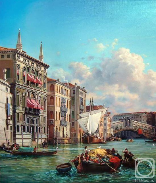 Абат-Черкасов Владимир. Венеция. Гранд канал (фрагмент)