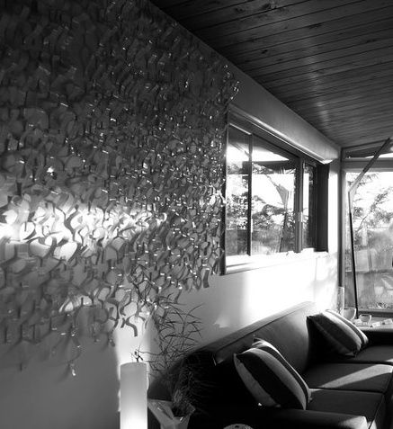 WAVES; The Twombly House.  Residential Installation. (image detail 1).  Katherine Dube 2000-2012.