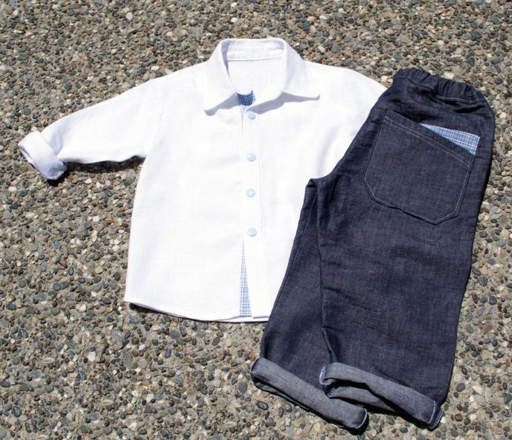 Λινό αγορίστικο σετ #handmade clothes #boys shirt #boys pants