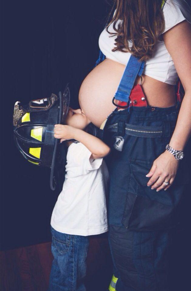 Firefighter Maternity Shoot