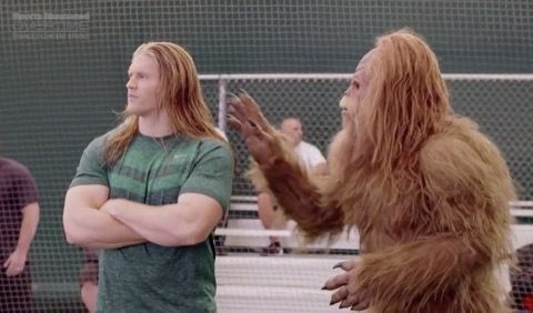 Clay Matthews Mentors Sasquatch -- Green Bay Packers linebacker Clay Matthews has a new ad campaign for Jack Link's Beef Jerky where he mentors Sasquatch. Yes. It's dumber than it sounds.
