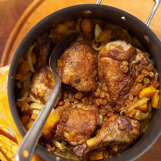 Moroccan Chicken and Pumpkin Tagine Stew