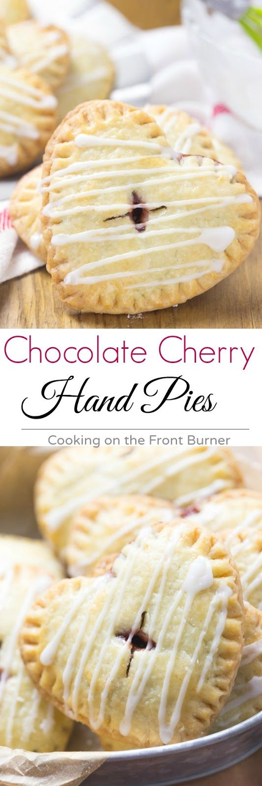 Your sweetie will love these Cherry Chocolate hand pies any time of the year!