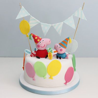 Love this Peppa Pig #Birthday Cake #peppapig