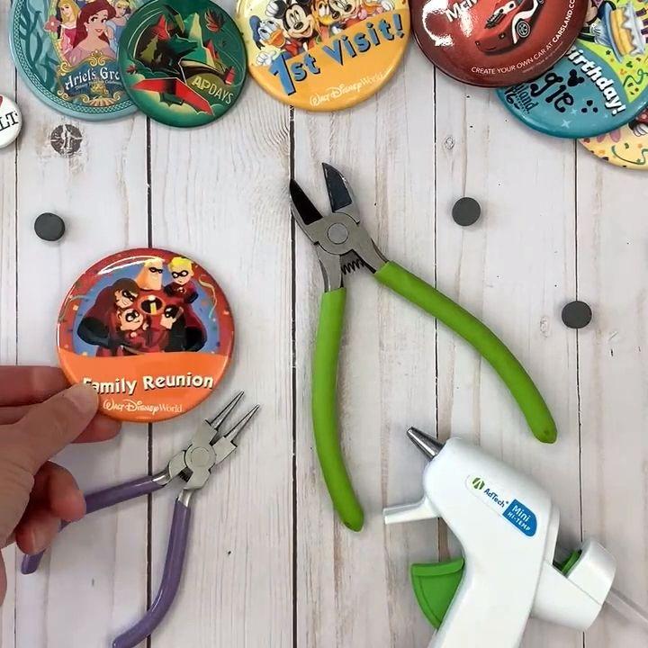 Disney Souvenir Button Magnets