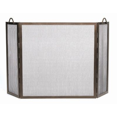 Minuteman Twisted Rope Wrought Iron Fireplace Screen & Reviews | Wayfair