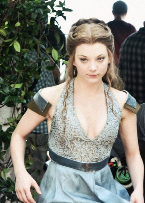 Natalie Dormer on the set of Game of Thrones; Season 4.
