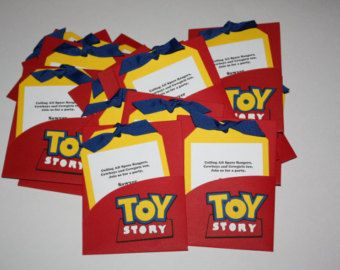 Pix For > Toy Story Homemade Invitations