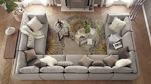 Image result for u shaped couch living room