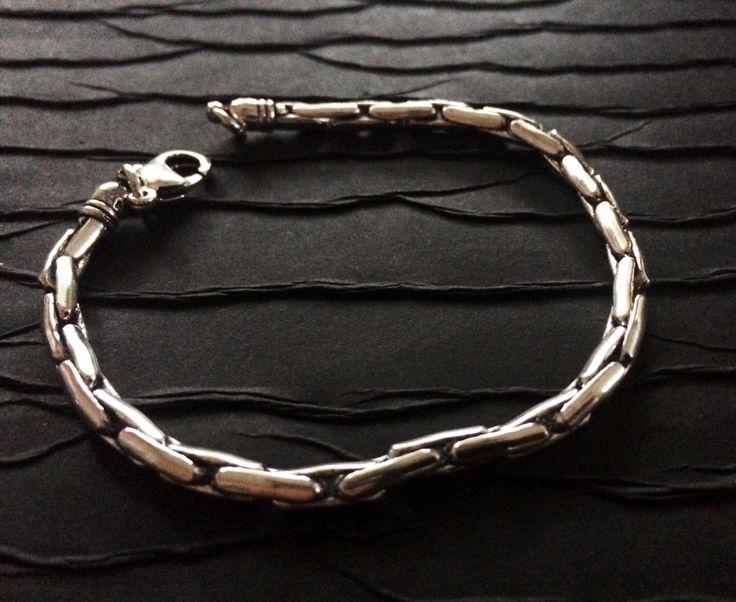 Thin Silver Link Chain Bracelet,Men's Silver chain bracelet,Cuff,Men's Jewelry,Silver bracelet,man bracelet,Modern style by Taneesi by taneesijewelry on Etsy https://www.etsy.com/listing/259239987/thin-silver-link-chain-braceletmens