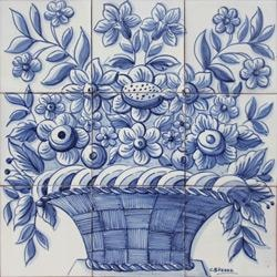 Portuguese decorative tiles Panel