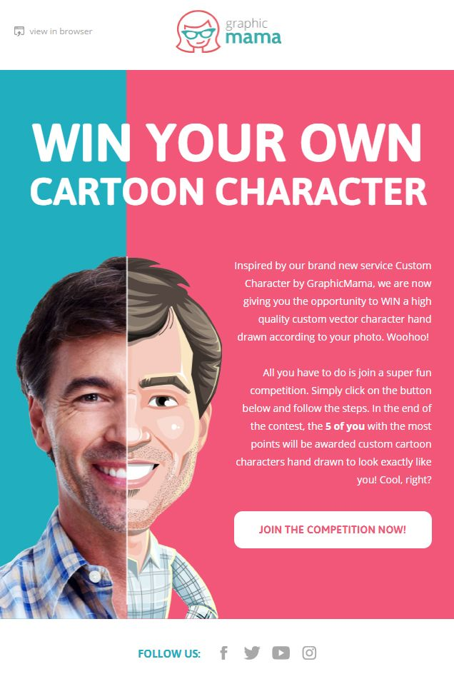Design Own Cartoon Character : Best email newsletter designs images on pinterest