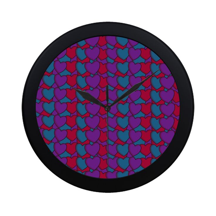 Love Hearts Circular Plastic Wall clock