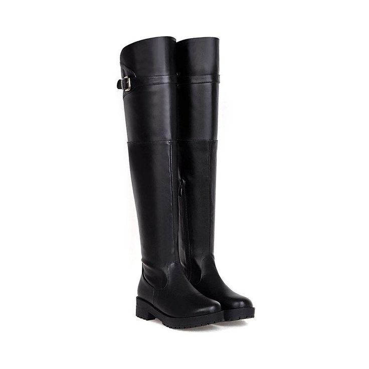 Black Knee High Boots Women Shoes Fall|Winter 8291