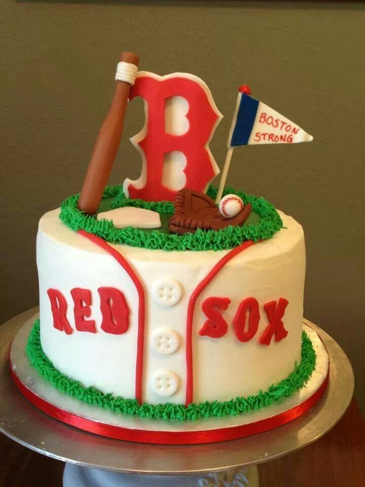 Red Sox Cake Images : Boston Red Sox Cake Candy Cakes Pinterest