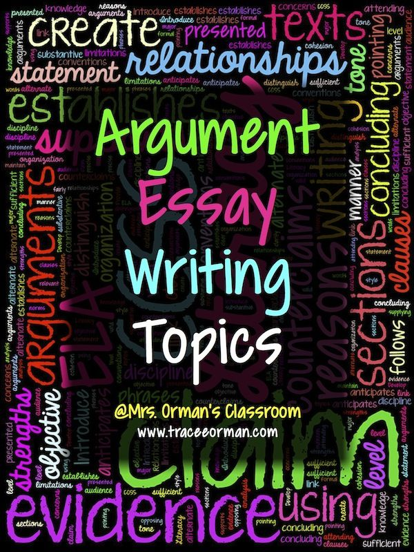 argument writing topics The first task in writing a good argumentative essay is finding a suitable topic that  has strong and valid opinions for both sides of the argument.