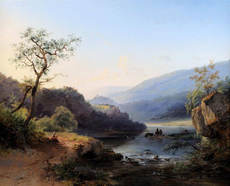 Flemish landscape painting of XIXth century : Fredrik Marinus Kruseman (1816-1882)