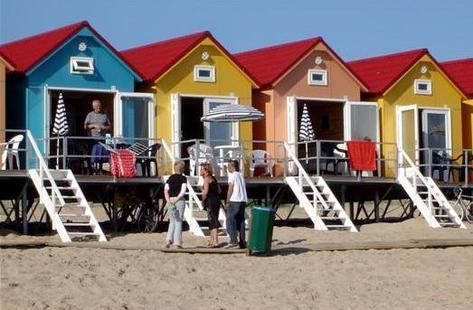 beach houses at Vlissingen, Netherlands