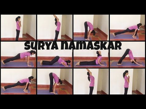 how to do surya namaskar poses  stepstep for