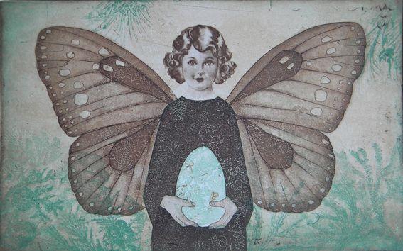 """""""Suojaavat siivet"""" (""""Sheltering Wings"""") by Finnish artist  Piia Lehti (2008)."""