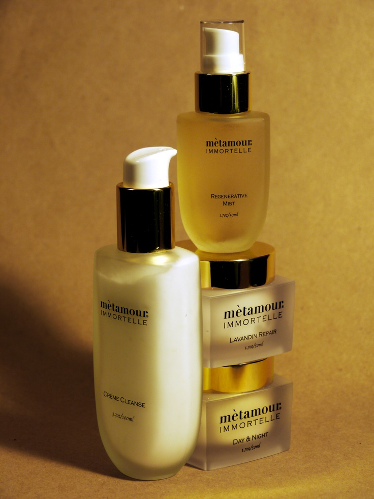 METAMOUR IMMORTELLE 4 part skin care system with HELICHRYSUM ITALICUM, the coveted oil from CORSICA.  www.metamourskincare.com