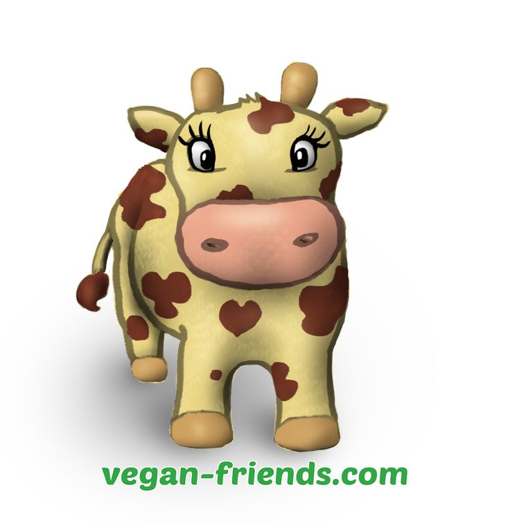 One of Vegan Friends mascot, Cinnamon the lovely cow