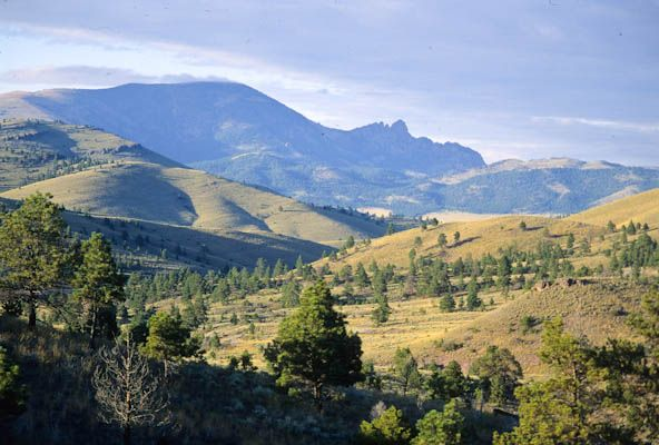 The sleeping giant mountain outside of Helena, MT. We own land on a mountain overlooking the city and this giant is directly across.<3