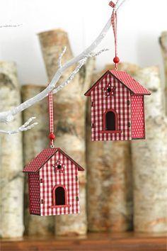 Casitas de pájaros decorativas