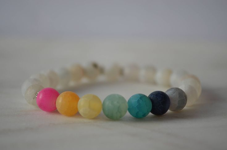 Excited to share the latest addition to my #etsy shop: Agate Matte Chakra Bracelet. Stretch Bracelet. Rainbow Bracelet. Calming Bracelet. Stabilizing Bracelet. Reiki Bracelet. Yoga Bracelet.
