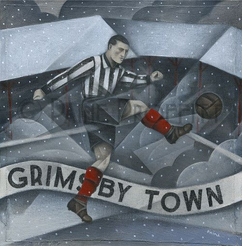 The wait is over Grimsby Town Snow... now available online at http://www.bwsportsart.com/products/grimsby-town-snow-over-blundell-park-original-art-by-paine-proffit?utm_campaign=social_autopilot&utm_source=pin&utm_medium=pin  #sports #art