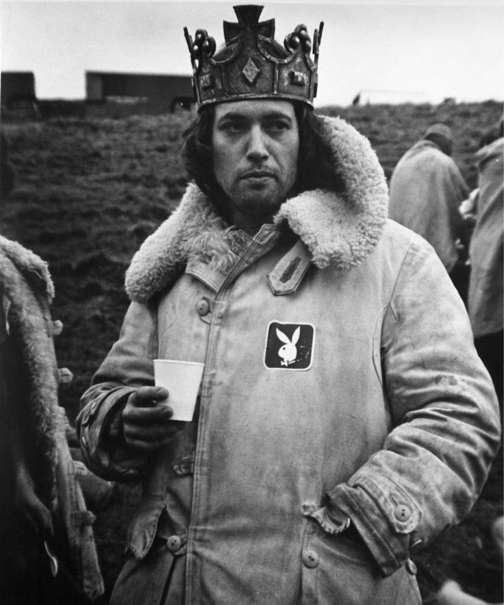 On set for Roman Polanki's The Tragedy of Macbeth. 1971.