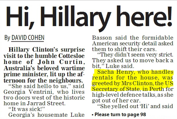 Marketing Coordinator mentioned in The POST when Hillary Clinton visited The Curtin Family House!