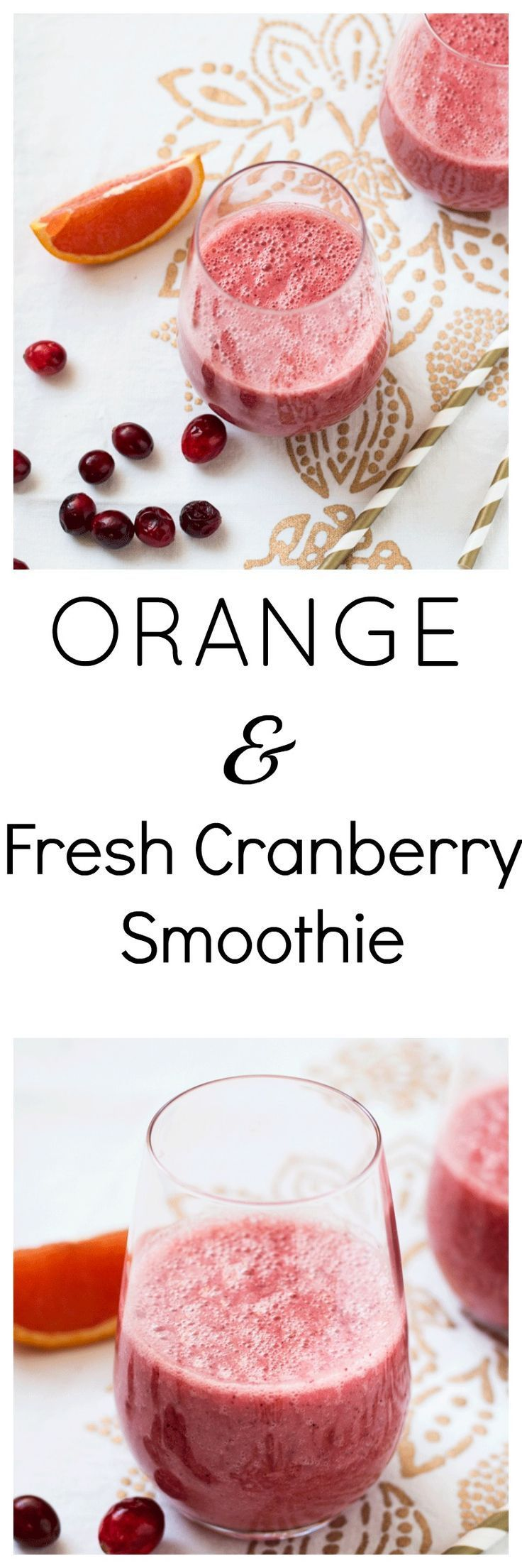 Rejuvenating Orange and Fresh Cranberry Smoothie. A quick, easy and delicious way to rejuvenate and heal your body. Packed with antioxidants via @wholefoodbellies