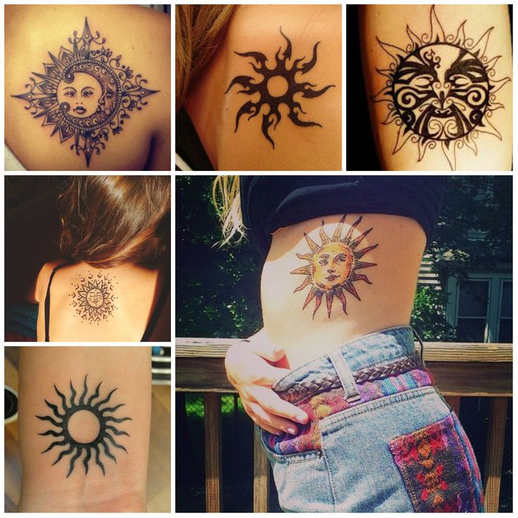 Sun Tattoo Designs 2016