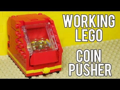 How To Build A Working Lego Coin Pusher Machine - YouTube