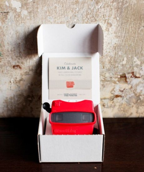 Viewmaster Invitations! Wow! Most creative invite Idea I've ever seen.