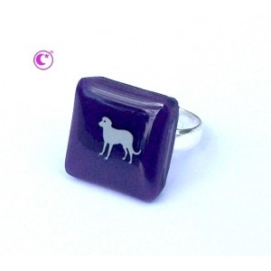 Bague Smart carrée City Dog  Carolune bijoux Design et contemporains  www.carolune.com