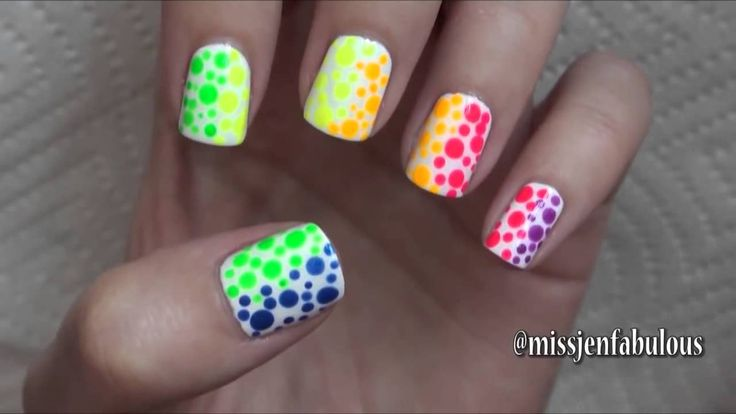 Summer Nail Art Three Easy Designs - YouTube                                                                                                                                                                                 More