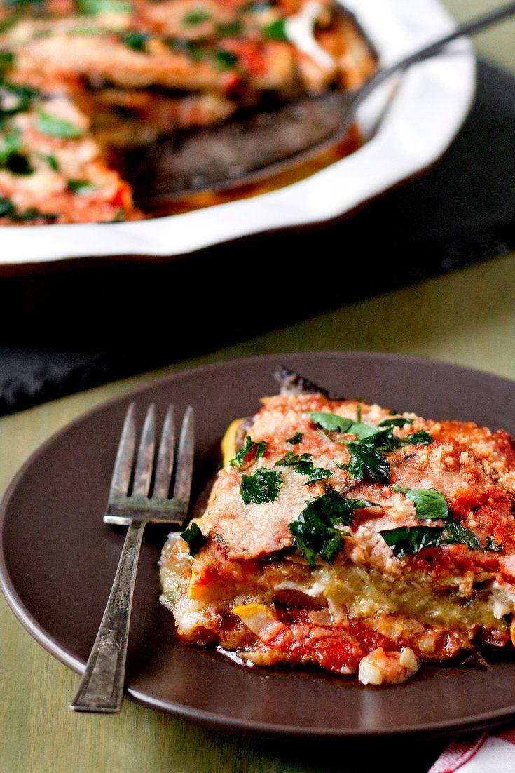 NYT Cooking: This parmigiana is well suited to red wine and the brisk weather of late September, when eggplant, zucchini and summer squash are still in the farmers' market. The dish can be prepared in advance and reheated.