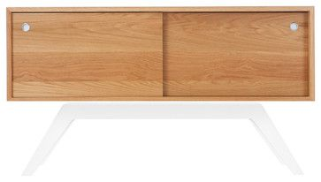 Elko Credenza Small, White Oak, White Base midcentury-buffets-and-sideboards $1990. houzz.com